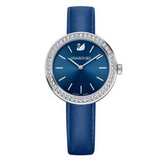 e026cb59d15a Shop for Swarovski Daytime Blue Dial Leather Strap Women s Watch Get free  delivery at Overstock - Your Online Watches Store! Fund Grube Spain
