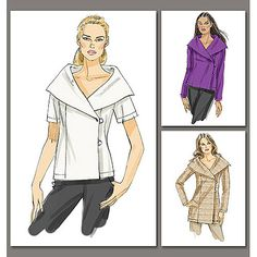 Vogue Pattern Misses' Top and Tunic, B5 (8, 10, 12, 14, 16)