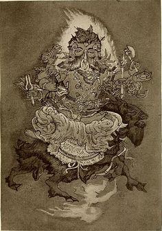 Agni Hindu Fire God by Nandalal Bose