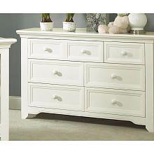 Baby Cache Harbor 7 Drawer Dresser - White