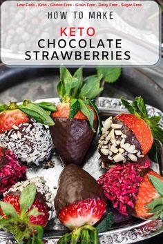 Keto Dessert Easy, Healthy Dessert Recipes, Fruit Recipes, Brunch Recipes, Breakfast Recipes, Low Carb Sweets, Low Carb Desserts, Low Carb Recipes, Easy Recipes