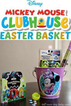 Disney Junior Easter Basket - Perfect for Mickey Mouse and Minnie Mouse fans - Toddler Approved! #DisneyEaster #CollectiveBias #Ad