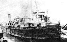 Ritrovano una nave affondata nel 1899 e all'interno scoprono che c'è ancora.... 116 anni fa, per la precisione il 12 febbraio del 1899 la John V Moran, un pirosfaco lungo circa 65 metri era in viaggio con a bordo un carico che conteneva fra l'altro  farina, piselli e cibo per an #nave #michigan #affondata