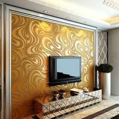 Contemporary Wallpaper Art Deco Sprinkling Gold Abstraction Wallpaper Wall Covering Non-woven Fabric Wall Art 3d Wallpaper For Bedroom, 3d Wallpaper Mural, Cheap Wallpaper, Gold Wallpaper, Wallpaper Wallpapers, Wallpaper Roll, Inspire Me Home Decor, Brown Walls, Gold Walls