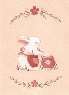 Find images and videos about spring, bunny and easter on We Heart It - the app to get lost in what you love. Easter Drawings, Cute Drawings, Illustration Mignonne, Easter Illustration, Easter Wallpaper, Easter Art, Easter Eggs, Bunny Art, Tatty Teddy