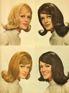 1960s hair, mm'hmm.  IT TOOK SO MUCH HAIR SPRAY LOL and very large rollers!