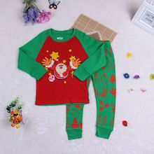 Fashion Christmas Clothing Sets Kids Girls Boys Clothes Character Santa Claus Children Set For Girls Boys Clothes Set(China (Mainland))