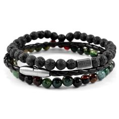 Buy Lucleon - Green Living Bracelet for only Shop at Trendhim and get returns. Making Bracelets With Beads, Bracelets For Men, Leather Bracelets, Surfer Bracelets, Bracelet Cuir, Bracelet Set, Paracord Bracelets, Beaded Bracelets, Charm Bracelets