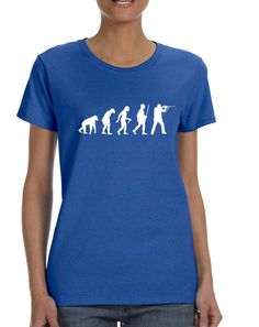 Women's T Shirt Hunting Evolution Funny Hunting Tee  #tshirt #womenfashion #hunting #evolution #trendy