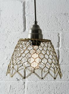 Lamp shade chicken wire and ribbon actually i think thats wire lamp shade i could do make this keyboard keysfo Image collections