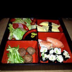 Delicious sushi bento box Shin made me--delish!