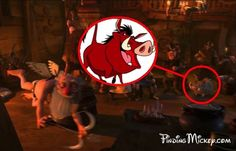 """Pumbaa from The Lion King can be seen during the """"I've Got a Dream"""" scene in Tangled."""