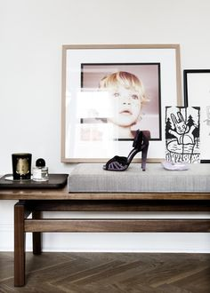 emmas designblogg - design and style from a scandinavian perspective  Like the framing for the portrait