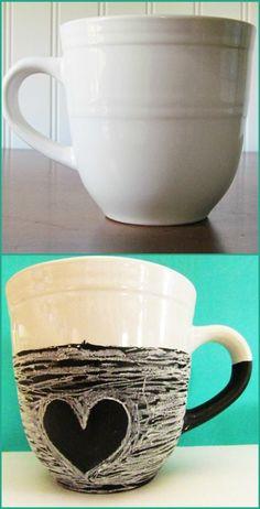 chalkboard paint mug tutorial
