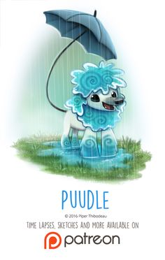 Day 1422. Puddle by Cryptid-Creations Time-lapse, high-res and WIP sketches of my art available on Patreon (:Twitter • Facebook • Instagram • DeviantART