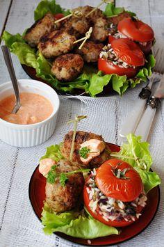 Faszerowane pieczone pomidory