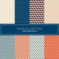 Coleção de padrão no estilo geométrico Vetor grátis