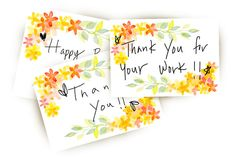 watercolor thank you card by @Graphicsauthor