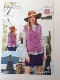 StyleCraft Knitting Pattern Alpaca Tweed Double Knitting 9011 - 2 Easy Knit Designs by AmandaHLCreations on Etsy