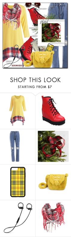"""Plaid-Gamiss, Win $20!"" by astromeria ❤ liked on Polyvore featuring Pier 1 Imports, contest, coat and gamiss"