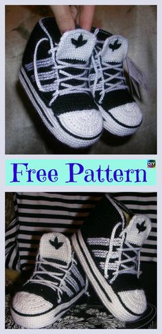 trendy ideas for crochet shoes sneakers free pattern Crochet Baby Boots, Crochet Shoes, Booties Crochet, Crochet Slippers, Baby Booties, Crochet Style, Knitted Baby, Baby Shoes Pattern, Baby Patterns