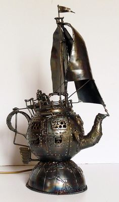 Steampunk. It's a tea pot. It's a ......