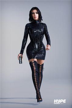 Kim Kardashian's Hype Energy Drink Photo Shoot