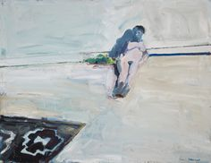 "Paul Wonner, ""Nude and Indian Rug II,"" 42 x 60 inches, oil on canvas, 1961"