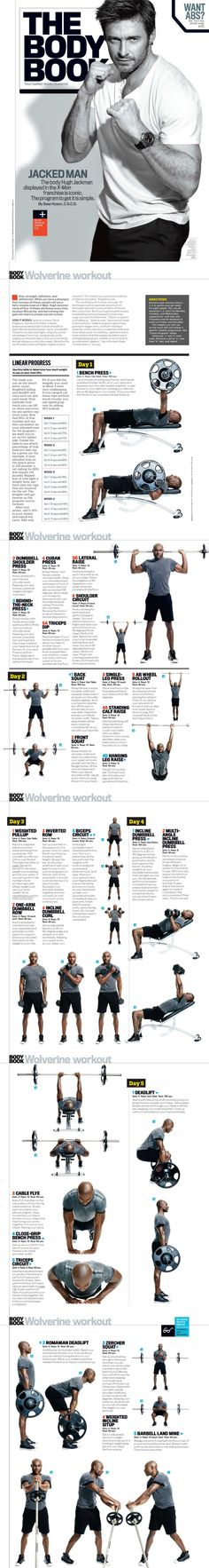 The Wolverine Workout. [see more >> www.pinterest.com/amorefitness]