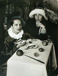 near 1930 Alisa Poret and Tatiana Glebova