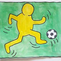 """""""WM-SPIELER IM POP-ART-STIL"""" nach Keith Haring Natürlich darf das Thema ⚽️ WM auch im Kunstunterricht nicht fehlen ... Ich habe mich für ein Pop-Art/Comic-Bild nach Keith Haring entschieden (seine Bilder seht ihr, wenn ihr weiter wischt) Hier die Schritt-für-Schritt-Anleitung zum Nachmalen... #kunstfürkinder #kunstindergrundschule #arteducation #artforkids #kunsterziehung #primaryschool #schrittfürschritt #stepbystep #ideenfürdenkunstunterricht #kunstgrundschule #grundschulekunst #wm2018"""