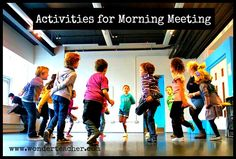 Activities for Morning Meeting