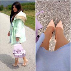 304e9a43ce5 Η Blogger από το fashionrailways, με παστέλ γόβες #SanteShoes από τη νέα  Collection Spring/Summer 2014 #SanteLook #SanteBloggersSpot
