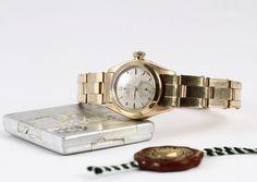 Rolex Oyster Perpetual #Rolex #oysterperpetual #certifiedprecision #4486 #1947 #plexiglass #pinkgold #gold #steinermaastricht