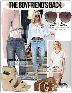 Ashley Tisdale Style and Fashion boyfriend jeans