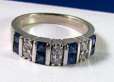 Beautiful Vintage Estate 14k cornflower blue by BellaJewelryShop, $1189.00
