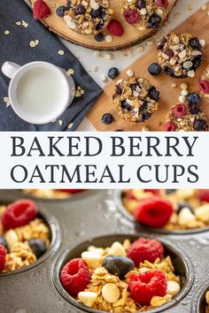 Make Ahead Freezer Friendly Easy Baked Oatmeal Cups – A Meal Prep Recipe {WW 5 Purple, 7 Blue, 8 Green, Vegetarian, Gluten Free} Make Ahead Breakfast, Healthy Breakfast Recipes, Breakfast Ideas, Breakfast Salad, Breakfast Cups, Healthy Breakfasts, Healthy Foods, Baked Oatmeal Cups, Baked Oatmeal Recipes