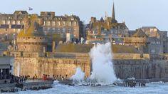 Grandes marées à Saint-Malo Saint Servan, St Malo, Region Bretagne, Cathedral, Photos, Europe, Travel, Wish, Places