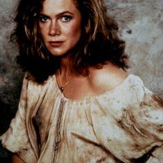 Joan Wilder rocks the dirty peasant blouse!  (Kathleen Turner, Romancing The Stone)