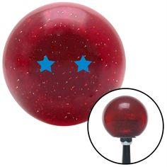 Blue Dragon Ball Z 2 Star Red Metal Flake Shift Knob with M16 x 15 Insert