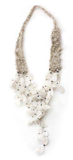 María Ignacia Walker - Vuelo - necklace textile, plastic
