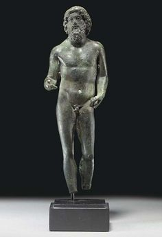 Jupiter type is roughly based on the colossal bronze Zeus by Myron that stood with Athena and Herakles in the Heraion on Samos, Roman Period 1 st century AD Greek Gods And Goddesses, Greek And Roman Mythology, Ancient Rome, Ancient Greek, Roman Artifacts, Roman Gods, Pagan Art, Roman History, Archaeology