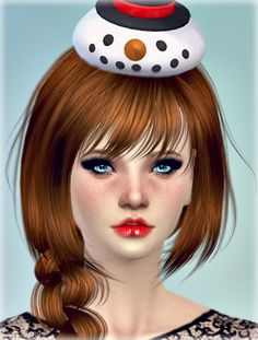 Jenni Sims: New Mesh Accessory SnowMan Hat Christmas • Sims 4 Downloads