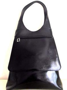 2897f318943 Auth GUCCI Black Calf Leather Vintage Womens Shoulder Handbag Purse Hobo  RARE