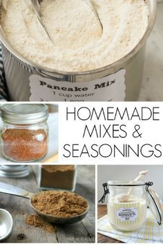 Homemade Mixes | Homemade Seasonings | Copycat Mix | Copycat Seasoning | DIY | Saving Money | Baking | Recipes | Simple