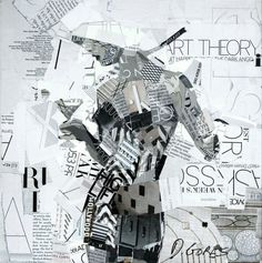 RETRATOS DE PAPEL Collages de Derek Gores
