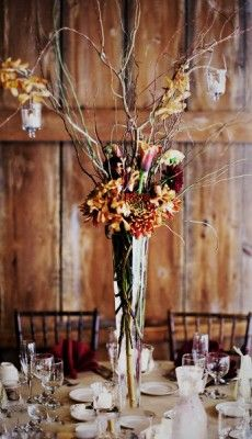 Tall Centerpiece Glass Vase #wedding #centerpiece