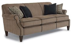 Flexsteel Furniture: Sofas: High TideSofa (5602-31) - available in love seat (36H x61w x38D) - not pictured.  Also available with darker florentine or dusk finish legs