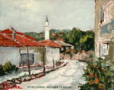 """PETRE CHIREA - """"MOSCHEE LA BALCIC"""" Painting, Art, Mosque, Art Background, Painting Art, Kunst, Paintings, Performing Arts, Painted Canvas"""