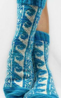 Hawaiian Tattoo Socks - Knitting Pattern by Christina Rowell